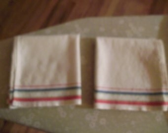 Set of Vintage Dish Towels   (Free shipping)