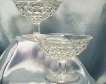 Fostoria American Pattern #2056 Footed Low Sherbet Dishes