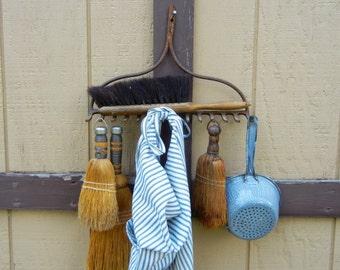 Rustic Old Iron Farmers Rake Head…Display Hooks Hanger
