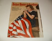 Vintage Better Homes and Gardens July 1943 - Patriotic Cover, Art, Scrapbooking, Retro 1940s, WW2 Ads, Paper Ephemera