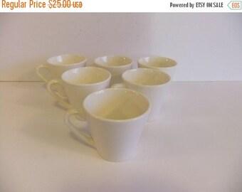 ON SALE Vintage Syracuse China Cups Syralite mugs white Diner coffee tea cups
