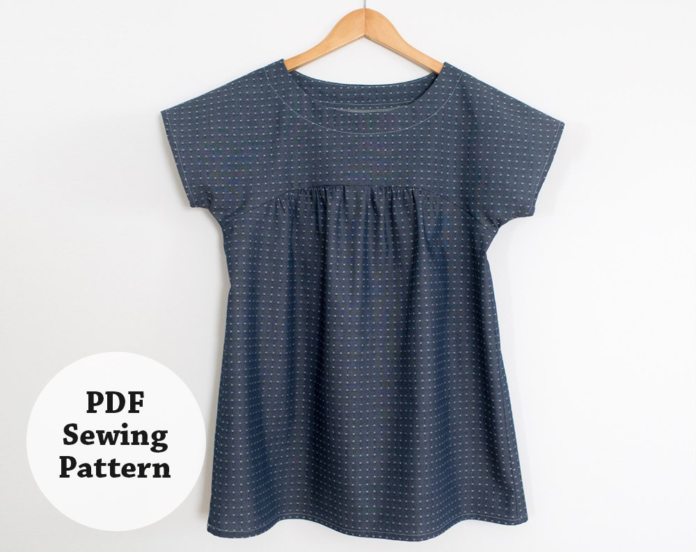 Ryan Top Pdf Sewing Pattern Women 39 S Apparel