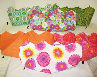 Bright Fun Floral Covers for Purses