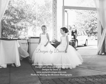 Private listing for aparks20 -September - 2 Ivory & Champagne flower girl dresses with train and lace!
