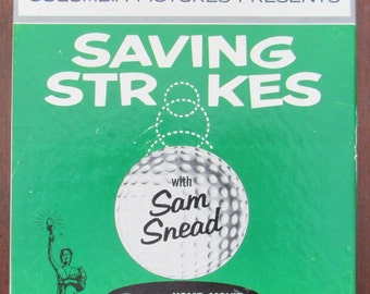Perfect Golf Lovers Gift-Great Vintage Super 8 Movie Reel-Saving Strokes With Sam Snead