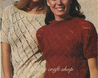 Lady's pullover knitting pattern. Instant PDF download!
