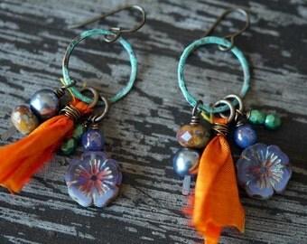 Bohemian Chandelier Earrings - Sway Chandelier Earrings - Bohemian Earrings - Bead Soup Jewelry