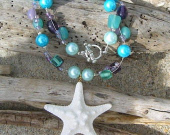 Starfish Necklace,Starfish Jewelry,Mermaid Jewelry,Beach Jewelry,Bridesmaid Gift,Beach Weddings,Starfish Accessories,Suede Necklace,Ocean