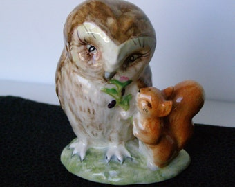 "Vintage Beatrix Potter's ""Old Mr Brown"" owl figurine Beswick England"