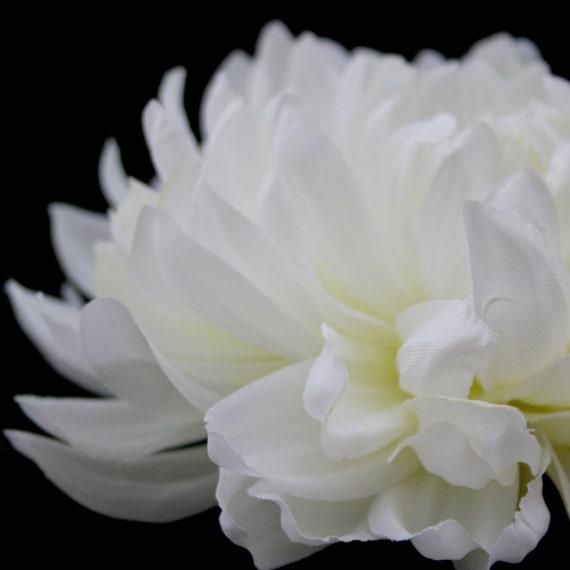 White Dinner Plate Dahlia Artificial Flower Silk Flower