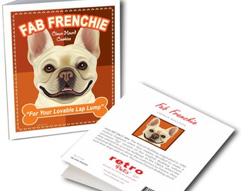 """French Bulldog Cards """"Fab Frenchie"""" 6 Small Greeting Cards by Krista Brooks"""