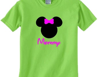 Lime Mickey Or Minnie Shirt . You choose font color