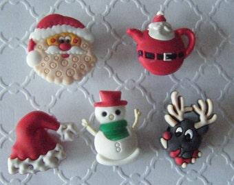 10 Christmas Holiday Magnets