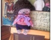 MADE TO ORDER 2,5 inch Artist Handmade Plush Miniature Pocket Sized Teddy Bear Napoleon by Sasha Pokrass