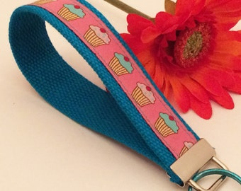 Cupcakes chef wristlet Keychain Key Fob Foodies and Food Lovers