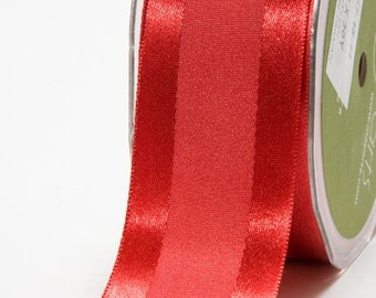 Satin Center Band Ribbon - Red - 1.5 inch  - You Choose Yards