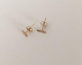 Gold filled Twist Line Earring