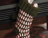 Crochet PATTERN Brighton Christmas Stocking - Crochet Christmas Stocking Pattern