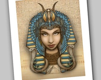 Egyptian Pharaoh Queen Hatshepsut, Fine Art Print, Original Design