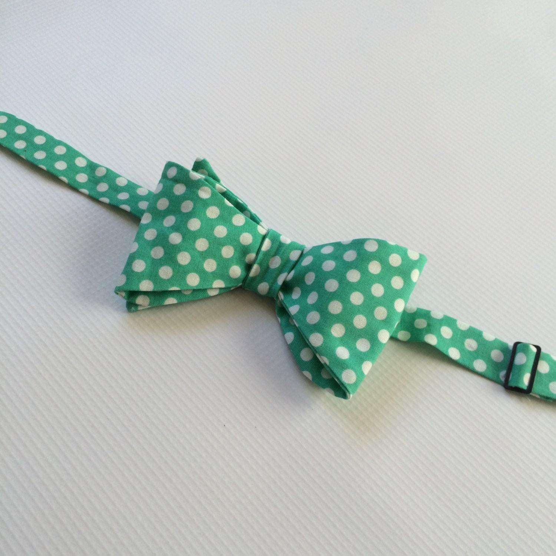 mens neckwear groomsmen bow ties mint bowtie mint polka