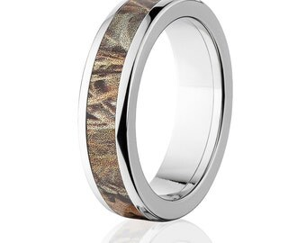 RealTree Max 4 Camouflage Titanium Rings Camo Band Wedding Ring 6HR