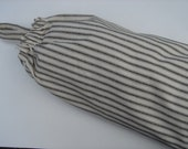 Plastic Grocery Bag Holder Black and White  Stripe Fabric