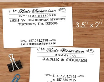 Vintage Typography Style - 50 Custom Business or Calling Cards