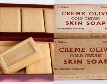 Original, 2 Boxes, Creme Olive Cold Cream Soap -Toronto
