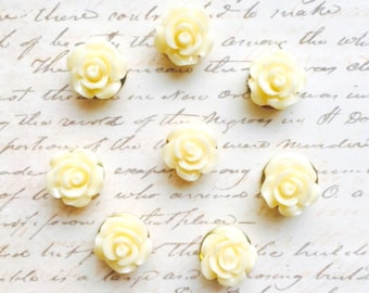 Push Pins - Decorative Push Pins - Office Supplies - Office Accessories - Flower Push Pins - Office Decor - Cute Push Pins - Pushpin - Ivory