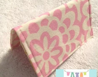 Pink Wallflower Card Holder
