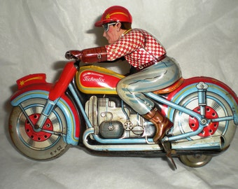 1940's Technofix 258W Comet Wind-Up Motorcycle