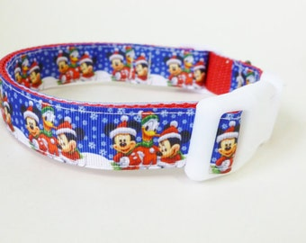 Mickie/ Disney Christmas Dog Collar by The Doggie House