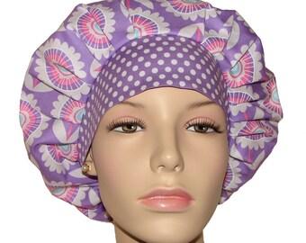 Scrub Hats - Hello Sunshine Purple Floral