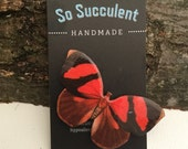 Red and Black Butterly Brooch