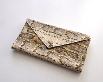 ON SALE Snake Pattern envelope  wallet - leather women wallet