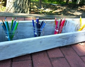 Rustic Repurposed Wood Box- Ready to Ship- Herb Garden-Craft Box-Flower Cuttings-Crate