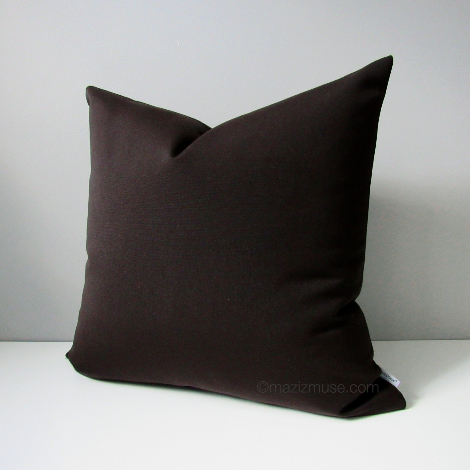 Dark Brown Throw Pillow : Dark Brown OUTDOOR Pillow Cover Modern Throw Pillow Case