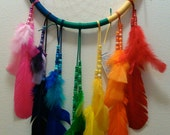 ON HOLD-Large Rainbow Dream Catcher