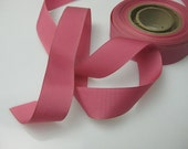 Vintage 50s Blush Pink Faille ribbon 1 inch wide P053