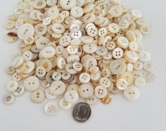 6.3oz Mother of Pearl buttons