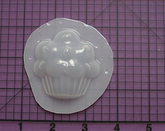 Cupcake with sprinkles plastic mold