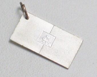 1976 Flag of United Nations Hati Flag 925 sterling silver ingot travel theme bracelet charm pendant jewelry adoption center