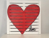 Red Heart Pallet Art Rustic Heart Love Home Decor Valentine's Day Gift