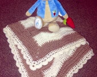 Cerise & Pink mermaid baby blanket
