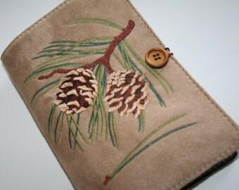 Pine Cone Embroidered Book Cover