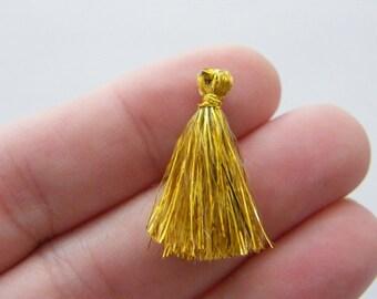 20 Gold terylene tassel
