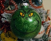 Large Plastic Grinch Ornament - Ready To Ship