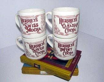 Vintage Hersey's Cocoa Mug Set of Four