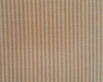 Peach PINK PIN STRIPE Cotton  Drapery Upholstery Fabric, 34-44-10-0113