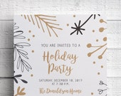 Printable Christmas Party Invitation Holiday Party Company Party